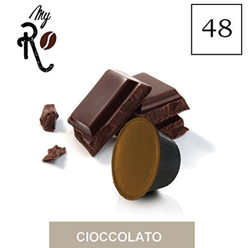 FRHOME - 48 Cápsulas compatibles Nescafé Dolce Gusto - Chocolate - MyRistretto