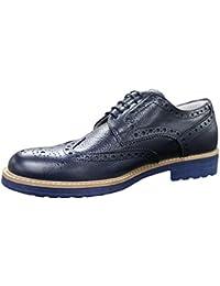 Scarpe francesine uomo blu vera pelle nuove casual eleganti 13a1fa2156e