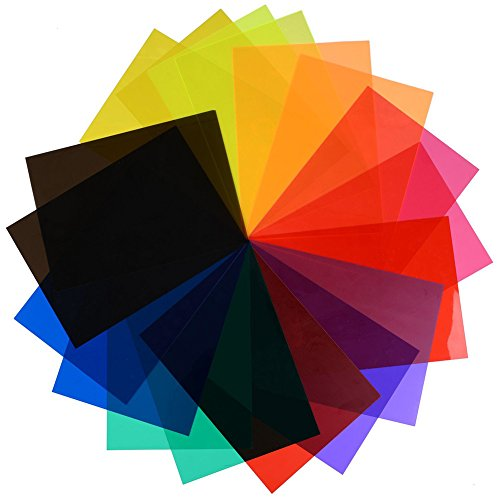 12×Chytaii Farbe Filter Transparente Filter Licht Beleuchtungs Gel Filter Korrektu Farbfolien Farbe Filter Korrektur für Foto Studio Strobe Blitz LED Licht Bunt