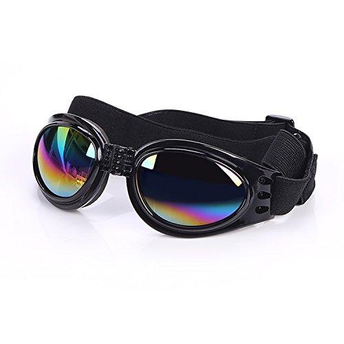 Cestlafit Haustier-Hundeschutzbrillen UV-Sonnenbrille, winddichter Schutz Hündchen-Welpen-Sonnenbrille, Hundebrille für großen Hund, Schwarzes