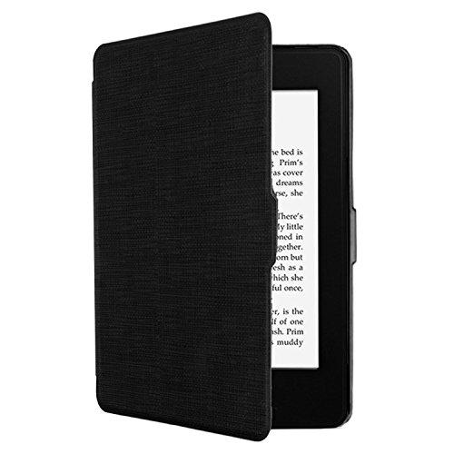 Tsing Funda Kindle Paperwhite 1/2/3 Magnética Inteligente de PU Cuero Leather Cubierta Ultra Delgado (NEGRO)