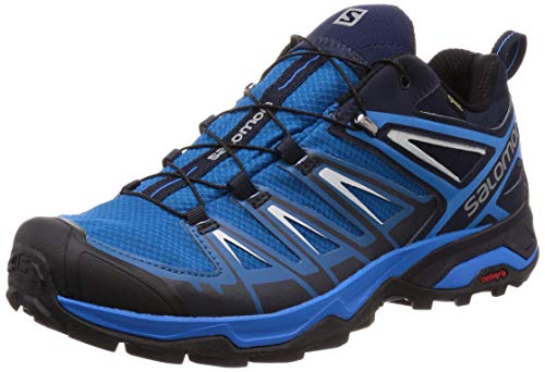 Salomon Herren X Ultra 3 GTX Trekking-& Wanderstiefel, Blau (Mykonos Blue-Indigo Hunting-Pe 000), 42 2/3 EU -