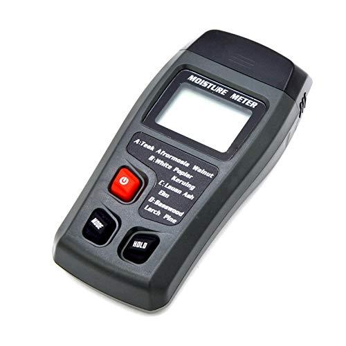 Digital LCD Holzfeuchtemessgerät ± 0,5% Genauigkeit 2 Pin Feuchtemessgerät Tragbarer Feuchtemessgerät Tester Sensor Hygrometer - Schwarz