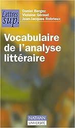 Vocabulaire de l'analyse littéraire