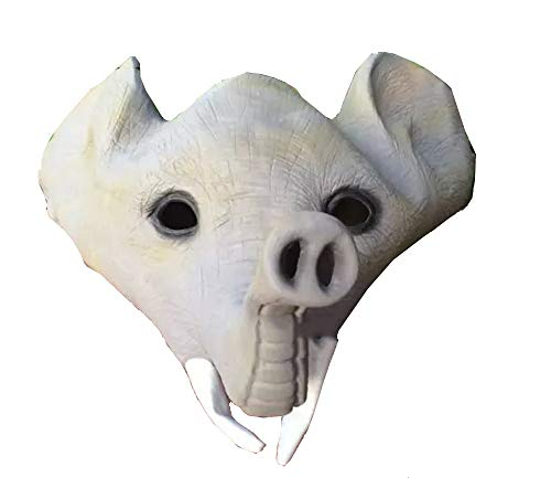 Halloween Animal Máscara Látex Elefante Máscara Peluca Cosplay Props Party