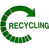 2x logotipo de reciclaje recicle autoadhesivas pegatinas de vinilo envío gratuito