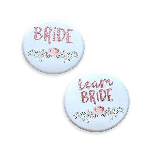 Bride & Team Bride Buttons für Junggesellinnenabschied JGA & Poltern - 11 Stück   JGA Accessoires & Zubehör