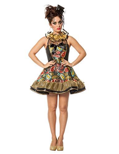 Hexe Kostüm Verruchte - Generique Verruchter Clown Kostüm für Damen Bunt L