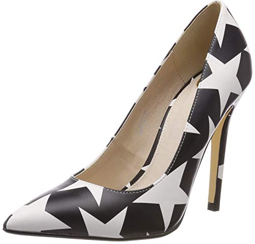 Buffalo Amica, Zapatos Tacón Mujer, Stars Black/White