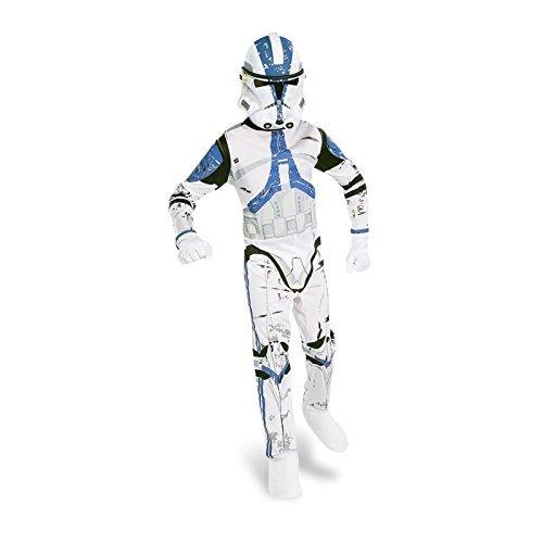 Kinder Kostüm Clonetrooper Star Wars Kinderkostüm Klonkrieger Clone Trooper Gr L 8-10 ()