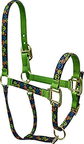 Red Haute Horse PJ Pet Products Neon Signs of Peace Design High Fashion PREMIER Qualität Pferd Kopf Halsband