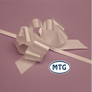 """20 x 50 mm (2 """") Rapiddi raso Bows - BIANCO per Decorazioni regali, fiori Mazzi e Arrangiamenti, cestini, Auto matrimonio, omaggi floreali, Arts & Crafts, cesti natalizi"""