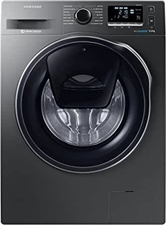Samsung 9 kg Fully-Automatic Front Loading Washing Machine (WW90K6410QX, Inox Grey)