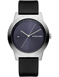 Jacob Jensen Reloj Análogo clásico para Hombre de Cuarzo con Correa en Cuero JJ141