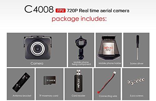 s-idee 01523 Wifi HD Kamera C4008 mit Tonaufzeichnung für Drohne MJX X101 - 3