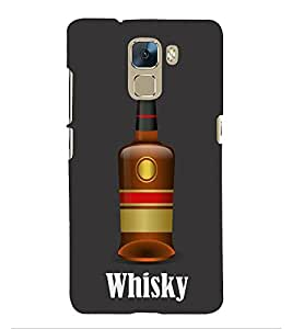 Fiobs Designer Phone Back Case Cover Huawei Honor 7 :: Huawei Honor 7 (Enhanced Edition) :: Huawei Honor 7 Dual SIM ( Whisky Logo )