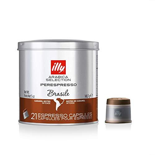 illy Kaffee, Kaffeekapseln Iperespresso Arabica Selection Brasilien - 1 Dose mit 21 Kaffeekapseln