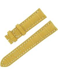 Breitling 894p 21-18mm sable Tone Alligator véritable bande de montre pour hommes