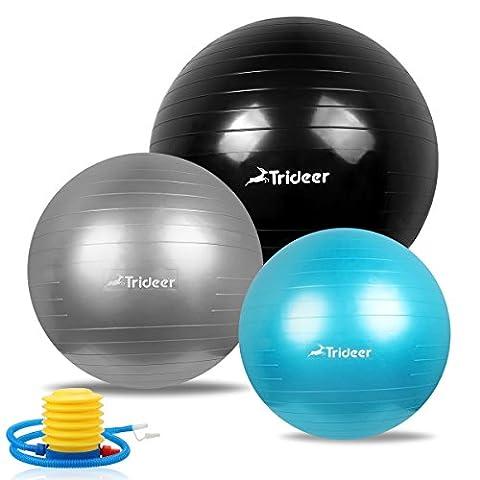 Trideer® Ballon Suisse de gym avec Pompe, 500KG Anti-Eclatement /