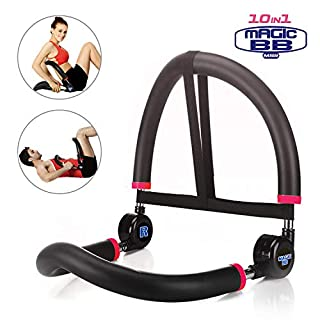 SYOSIN 10 in 1 Ab Machine Stomach Abs Trainer Fitness Workout Abdominal Exerciser Sit-Up Equipment Home Gym (BLACK)