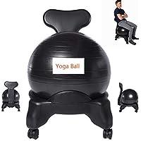 XUE Classic Balance Ball Chair – Ejercicio Estabilidad Yoga Ball Premium Silla ergonómica para el hogar