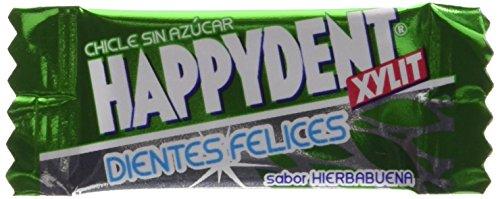 Happy Dent,Chicle Sin Azucar, sabor hierbabuena,caja de 200 unds