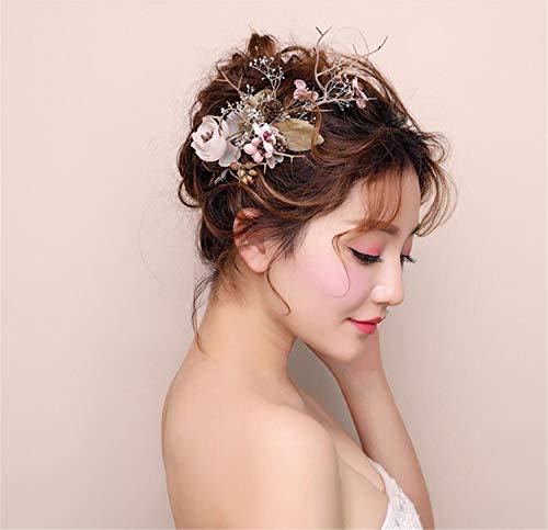 ELEGENCE-Z Braut-Haar-Accessoire, hochwertige handgewebte ewige getrocknete Blume Schmetterling...