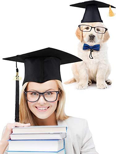 meekoo Unisex Erwachsen Abschluss Hut mit 2019 Quaste und Haustier Abschluss Hut Set Abschluss Hut Zubehör für Abschluss Partei Foto Nehmen Gefälligkeiten (Die Katze In Den Hut-partei-zubehör)