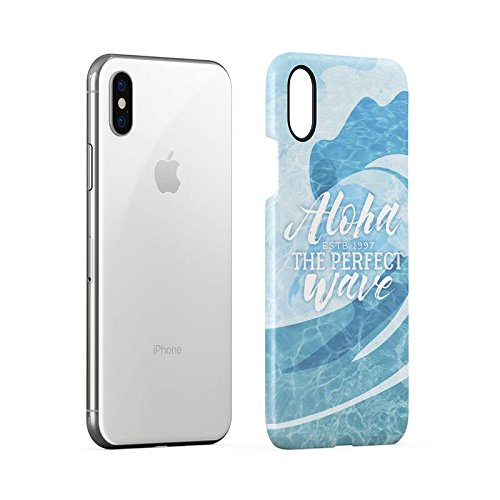 Man Surfing Waves On Coast California Tropical Live Surf Love Surf Custodia Posteriore Sottile In Plastica Rigida Cover Per iPhone 6 & iPhone 6s Slim Fit Hard Case Cover Perfect Wave