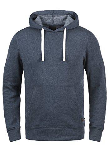 PRODUKT Poldi Herren Kapuzenpullover Hoodie Pullover Mit Kapuze Und Fleece-Innenseite, Größe:M, Farbe:Navy Blazer