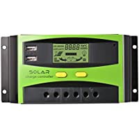 Controlador de carga solar , 30A 12V/24V PWM regulador de cargador solar, 2
