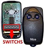 Nice FLO2 Button Gate Remote Control Keyfob Transmitter