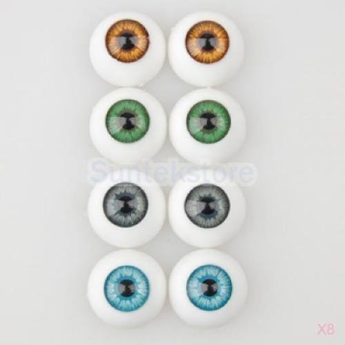 8x 8 Acrylic Plastic Half Round Eyes Eyeball HALLOWEEN HORROR16mm for Doll (Halloween Sexy Indian)