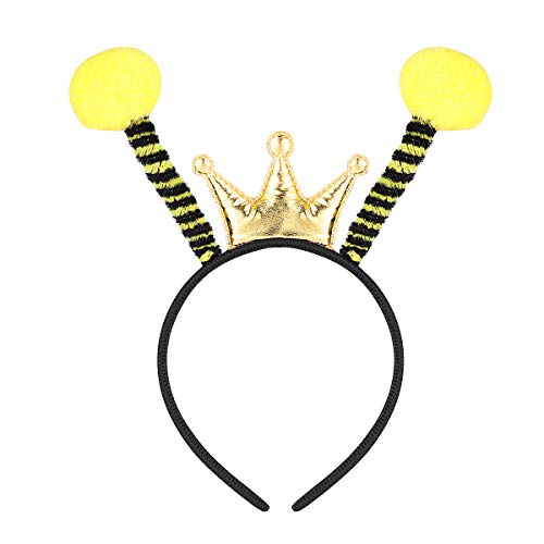 Amosfun Biene Stirnbänder Biene Antenne Haarband Ant Fly Marienkäfer Stirnband Kostüm für Halloween Geburtstag Weihnachten Party - Marienkäfer Kostüm Stirnband