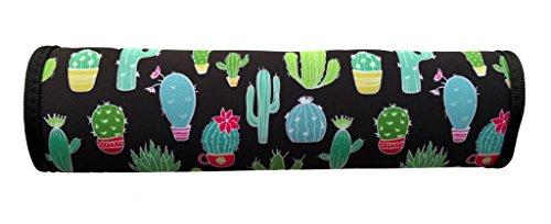 1x Auto Gurtschutz Sicherheitsgurt Schulterpolster Schulterkissen Autositze Gurtpolster für Kinder und Erwachsene (Kaktus Motiv) - von HECKBO