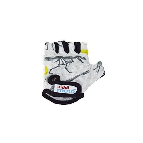 Kiddimoto GLV069M - Fahrrad Skater Handschuhe für Kinder Fossil, Gr.M (5-12 Jahre)