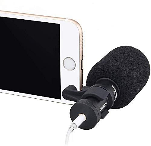 Comica CVM-VS08 Professionelle Video Mikrofon Directional Mini Shotgun Mic für Smartphones, Vlogging Mikrofon für iPhone und YouTube Aufnahme (Wind Muff enthalten)