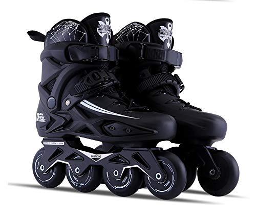 Laser-carving-messer (Archer Unisex Inline Skates Kinder/Erwachsene verstellbar mädchen/Jungen Inline Skates Rollschuhe PU 72mm 88A Schlittschuhlaufen auf Rädern von Unisex,Black,38)