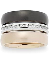 Leonardo Jewels Damen-Stapelring Edelstahl Glas