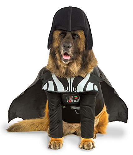 Offizielles Rubie 's Star Wars Darth Vader Pet Dog Kostüm, Big Dog (Darth Vader Pet Kostüm)
