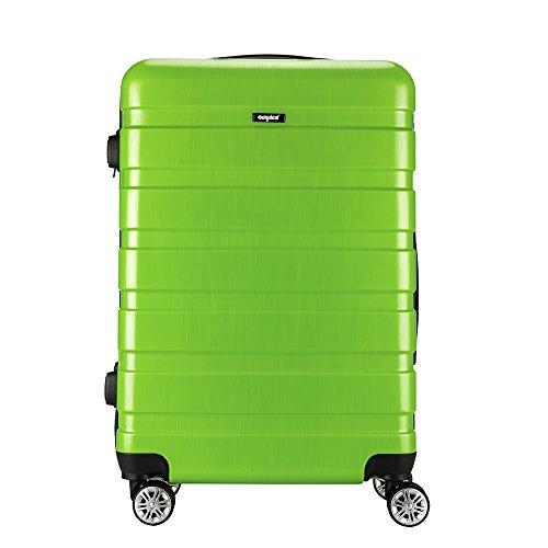 Amasava - Maleta Rígida Equipaje Mediano,65L,Cerradura TSA,ABS+PC,24', 40.5 x 25 x 65cm, 4 Ruedas multidireccional, Verde