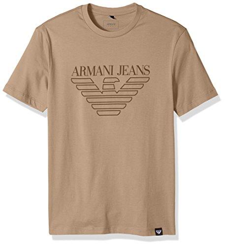T-Shirt mit Adler-Logo, Übergröße - Beige - Mittel ()