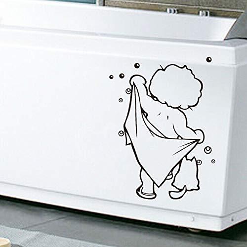 1 Stück Schöne Baby Liebe Dusche Badezimmer Blase Wandaufkleber Glastür Aufkleber Nette Kinder Dusche Aufkleber Poster ()
