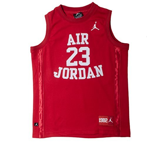 Nike Jordan Big Jungen Mesh Jersey (Medium (10–12), Grau), All-Season (Athletic Mesh-jersey)