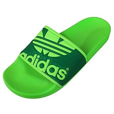 adidas Originals Men's Adilette Trefoil Green Rubber Flip-Flops and House Slippers - 6 UK