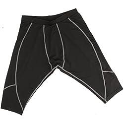 Gazechimp 1x Deportiva Medias Pantalones Cortos De Fútbol Gimnasio De Entrenamiento De Baloncesto Deportes Para Mujer Hombre - Negro + Gris, XXL