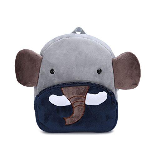 Baby-rucksäcke (Nette Kleine Kleinkind Kinder Rucksack Plüsch Tier Cartoon Mini Kinder Tasche für Baby Mädchen Junge Alter 1-3 Jahre - Elefant)