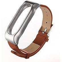para Xiaomi Miband 2, Mijoas Correa de Reloj de Pulsera de Cuero Elegante Pulsera