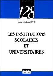 Les institutions scolaires et universitaires