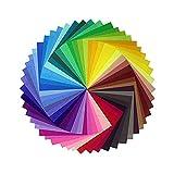Vikenner 50 Piezas Papel Cuadrado de Origami Papel de 50 colores Plegado Papel para...